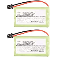 2pcs Exell Cordless Phone Battery Replaces BBTY0457001, BBTY0458001, BT-446, GP80AAALH3BMX, BT1005