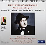 Korngold: Concerto for Violin Op. 35 / Gesang Der Heliane / Vier Stucke Op. 11 / Suite Op. 23 - Live Salzburg 2004