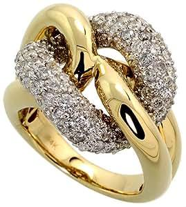 Revoni - Anillo de oro amarillo con diamante