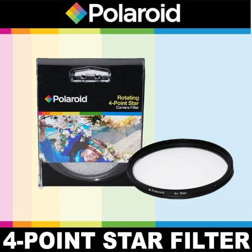 Price comparison product image Polaroid Optics Rotating 4 Point Star Filter For The Olympus Evolt E-30, E-300, E-330, E-410, E-420, E-450, E-500, E-510, E-520, E-600, E-620, E-1, E-3, E-5 Digital SLR Cameras Which Have Any Of These ( 35mm, 50mm) Olympus Lenses