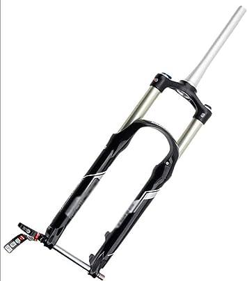 BJJZQ MTB Tenedor 27.5 Pulgadas Horquilla De Suspensión Bicicleta 120mm De Recorrido Disc Freno Control De Hombro Horquilla De Aire Aleación De Magnesio Apto para ...