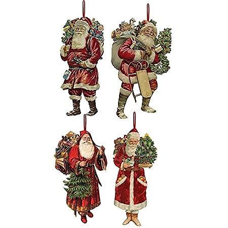 Tree Decorations Set of 4 -Victorian Christmas - Tree Decorations Set Of 4 -Victorian Christmas: Amazon.co.uk