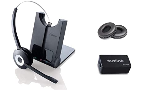 Yealink Phone Compatible Wireless Headset | Yealink SIP Phones: T48G, T46G,  T42G, T41P, T38G, T28P, T26P | Yealink Wireless EHS Headset Adapter |
