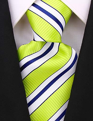 Neckties By Scott Allan - Striped Lime Green Men's Tie