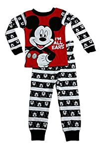 Disney Mickey Mouse Little Boys Toddler Long Sleeve Pajama Set