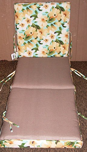 (1) Outdoor Patio Chaise Cushion ~ Disco ~ 21 x 70 x 3.5 **NEW** SHIPPING INCLUDED