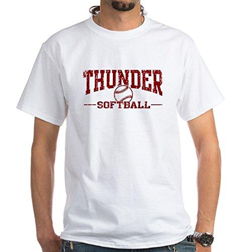 CafePress Thunder Softball White T-Shirt 100% Cotton T-Shirt, White