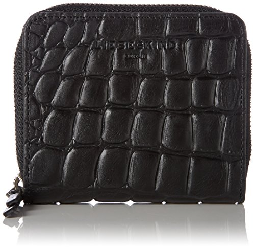 Liebeskind Berlin Women's Sabiaw7 Croco Embossed Zip Around Wallet Wallet, Oil Black, One Size