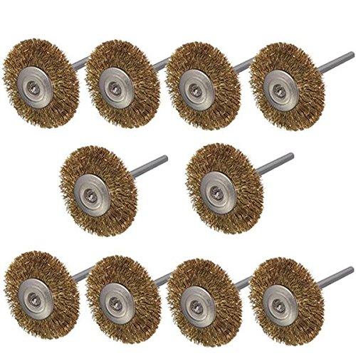 Saver 10pcs 3mm gambo spazzole ruota filo di ottone per utensile rotante Dremel 365BG1053295