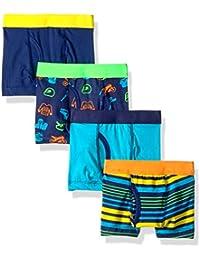 Boys Cotton/Spandex Boxer Briefs (Pack of 4)