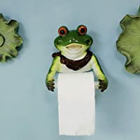 WWW Cartoon Frog Toilet Paper Roll Holder Wall Mount Resin Suction Toilet Paper Dispenser with Mobile Phone Shelf…