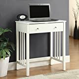 Sturdy Charlton Home 30.5'' Ross Writing Desk in White for Living Room