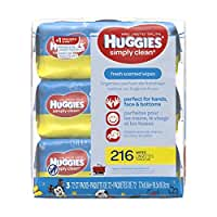 Huggies Simply Clean Baby Wipes - Unscented - Flip Top - 216 ct