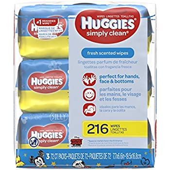 Amazon Com Huggies Simply Clean Baby Wipes Unscented