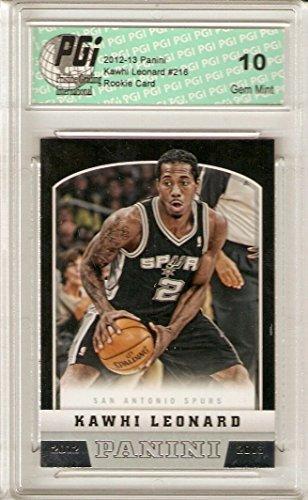 Kawhi Leonard 2012-13 Panini #216 San Antonio Spurs Rookie Card PGI 10 (Antonio Sites San)
