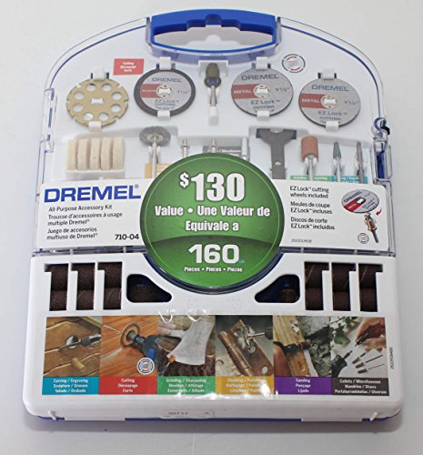 Dremel 160-Piece All-Purpose Accessory Kit, 710-04