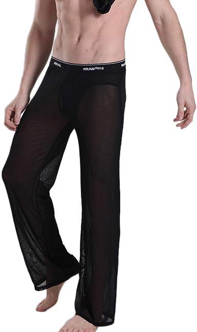 Amazon Com Cavehero Pantalones De Pijama Para Hombre Con Malla Transparente Clothing