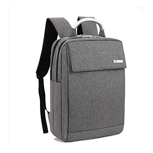 Professionelle Kaffee Computer Tablet Notebook Rucksack für Herren Schüler Reise Carry On Tasche 17 Zoll Grau