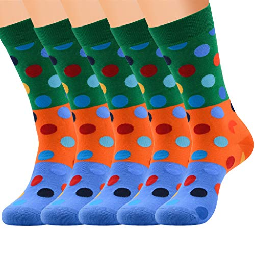 Funnygals  Men's Calf Socks Designer Pattern Cute Style Business Suit Socks EU 39-44