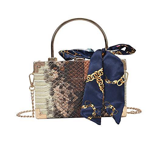 Snakeskin Clutch Bag Top Handle Evening...
