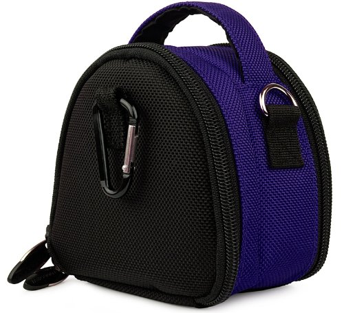 (Blue Limited Edition Camera Bag Carrying Case for Pentax Optio I-10 NB1000 RS1000 RS1500 RZ10 S1 Point and Shoot Digital Camera )