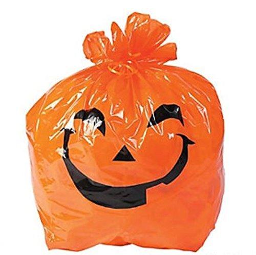 12 pack --- Jack O Lantern Pumpkin Lawn Bags - 28x30 size