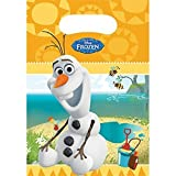 DISNEY FROZEN Olaf Summer Loot Bags (6 Pack) by Frozen Olaf