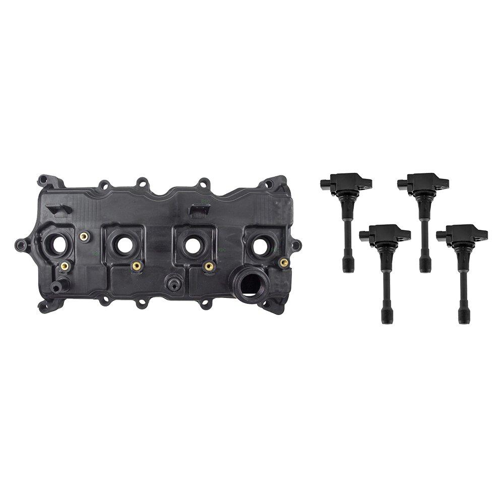 58308f70fe8 Amazon.com  Pair Engine Valve Covers w Gaskets   4 Pc Set of Ignition Coils  for Nissan Altima Sentra 2.5L 13264-JA00A 22448-1KT1A  Automotive