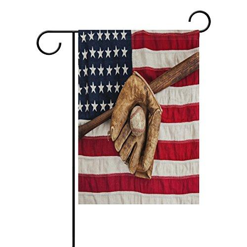 WXLIFE Garden Flag 28 X 40 Large Inches American Flag Baseba