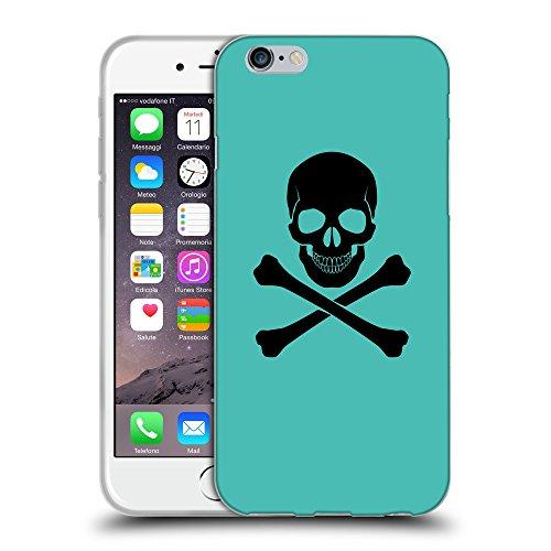 GoGoMobile Coque de Protection TPU Silicone Case pour // Q08040634 Os croisés 1 Turquoise // Apple iPhone 7