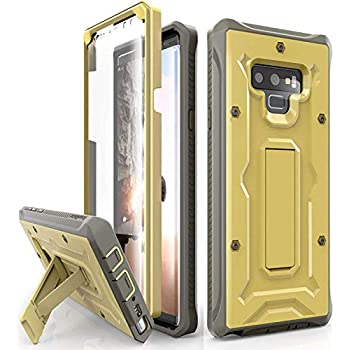 ArmadilloTek Vanguard Designed for Samsung Galaxy Note 9 Case (2018 Release) Military Grade Full-Body Rugged with Built-in Screen Protector & Kickstand (Gold Olive)