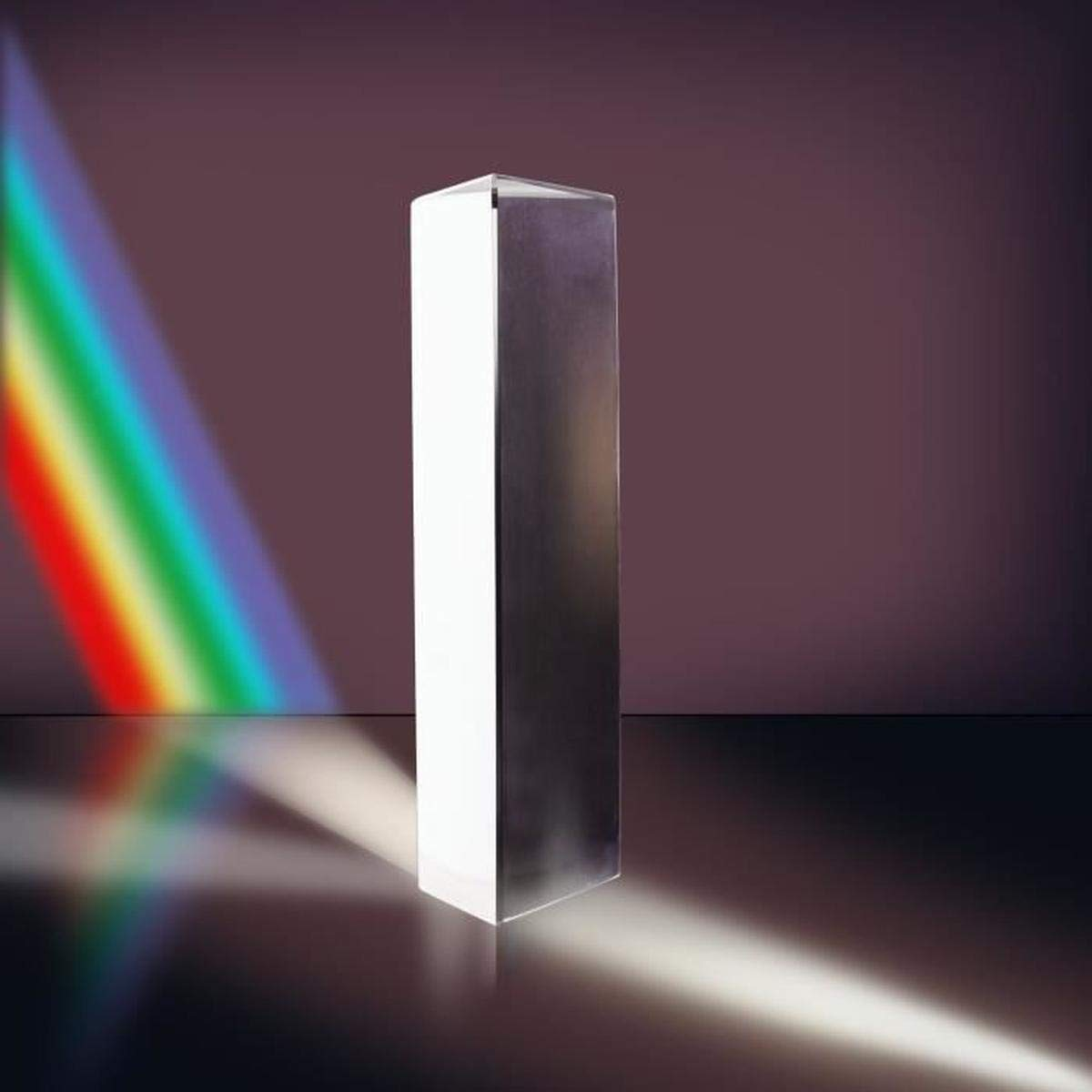 MerryNine 6'' Optical Glass Triangular Prism for Physics Teaching Light Spectrum, Photography, Rainbow Maker, Suncatchers, 150mm with Gift Box (150mm with Gift Box) by MerryNine