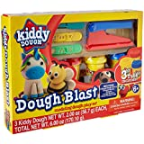 KIDDY DOUGH Modeling Dough Play Set for Kids - Starter Kit Includes 3 Cans of Dough Tools w/Built-in Stamps, Cutter Stencils, Extruders - Educational Dough Kit for Preschool, Kindergarten, Age 6+