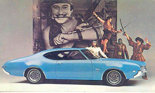 1969 Oldsmobile Cutlass S Holiday Coupe ORIGINAL Factory Postcard from Oldsmobile
