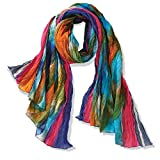 Women's Northern Lights Crinkly Cotton Fashion Scarf
