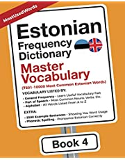 Estonian Frequency Dictionary - Master Vocabulary: 7501-10000 Most Common Estonian Words