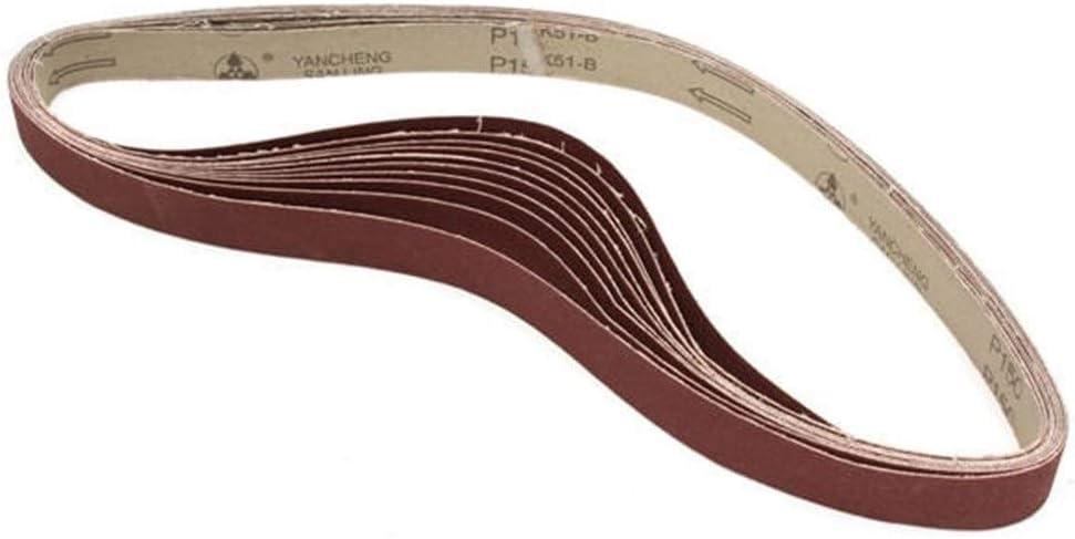 Accessoires abrasifs 10pcs 106x2.5cm Alumina Pon/çant Ceintures 150 Bandes De Sable Papier abrasif Auto-Aiguisant Oxyde Bandes Abrasives