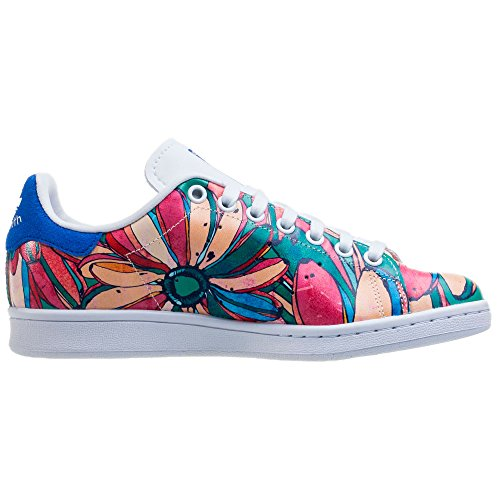 Stan Señoras Blancas Adidas S32036 Zapatillas W Smith Multicolor Originals 5Iqwxw7TOB