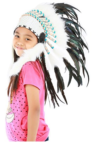 Indian headdress for 5 to 8 year old kid / children , hat , Feather headdress (Feathered Headdress)