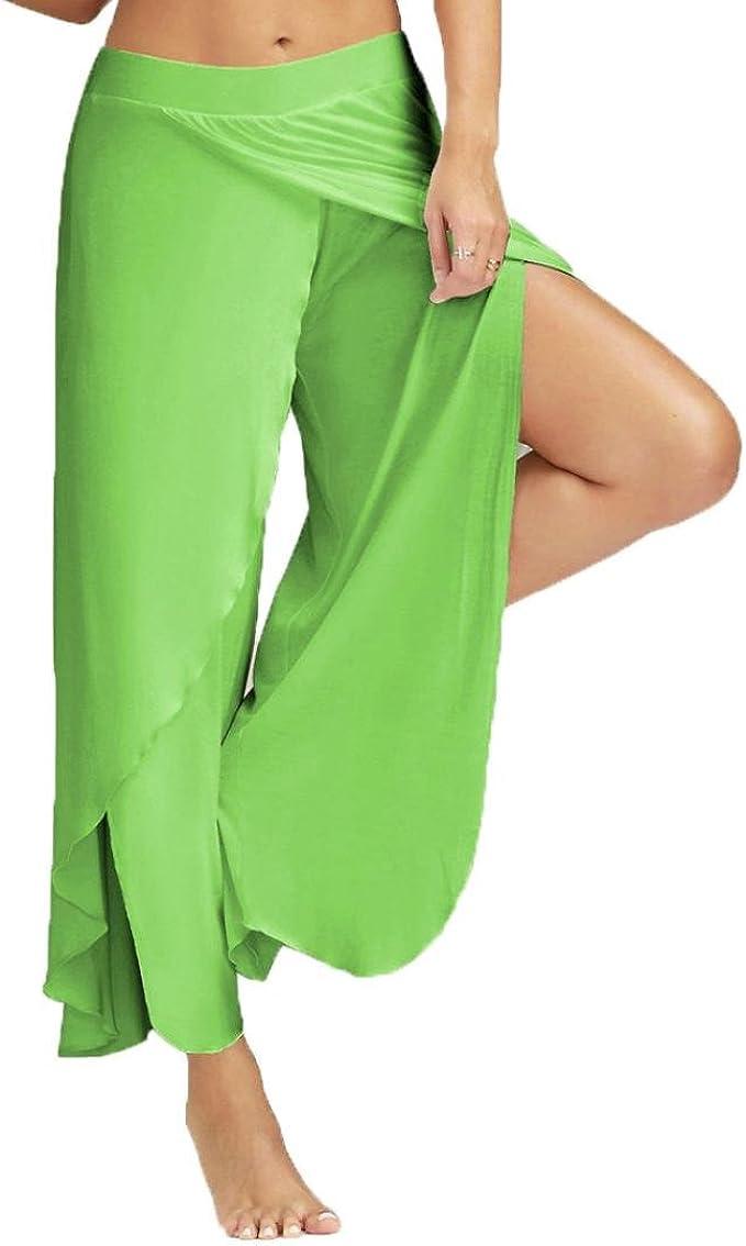Amazon.com: qisc Mujer Mujer Pantalones de plegado en la ...