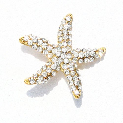 The Buckle Boutique Gold Rhinestone Starfish Brooch Buckle