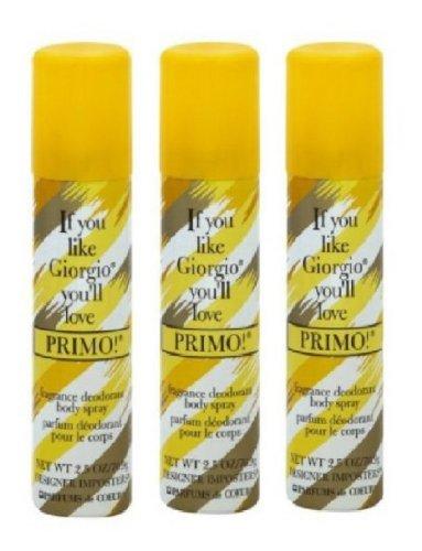 PRIMO BODY SPRAY SET OF 3 by Primo