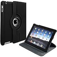 Capa para iPad 2/3/4 Rotação e Suporte (iPad 2º 3º 4º geração) Preta