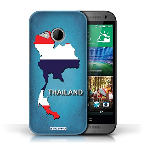 Kobalt® Imprimé Etui / Coque pour HTC One/1 Mini 2 / Thaïlande/Thai conception / Série Drapeau Pays
