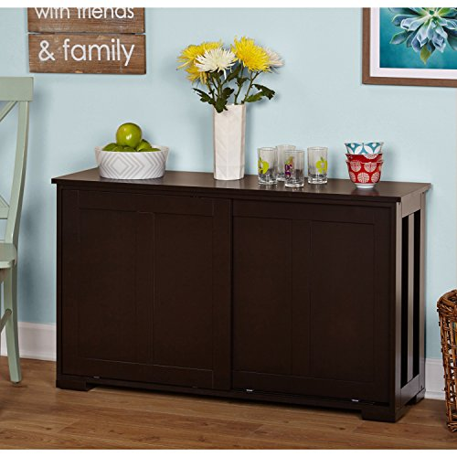 Cabinet Jefferson - Porch & Den Third Ward Jefferson Espresso Sliding Door Stackable Cabinet