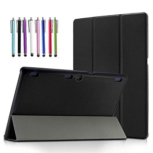 Lenovo Tab 2 A10/ Lenovo TAB-X103F Tab 10 Case, EpicGadget(TM) Slim Tri-Fold Case Cover with Auto Wake/Sleep for Lenovo TB3-X70F Tab 10/Tab2 A10-30/Tab2 A10-70/Tab 3 10 Business Tablet (Black)