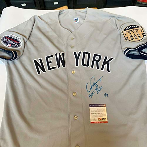 Autographed Alex Rodriguez Jersey - 500 Home Run Club NY #1 5 - PSA/DNA Certified - Autographed MLB Jerseys