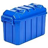 ECR4Kids 18-Gallon Stackable Storage Trunk, Blue (4-Pack)
