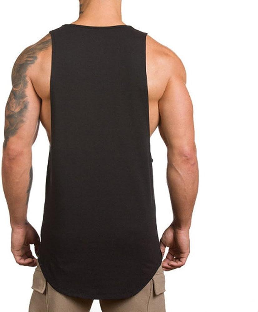 GetFIT Men/'s Gym T-Shirt Coton Bodybuilding Top Running Training VEST STRINGER