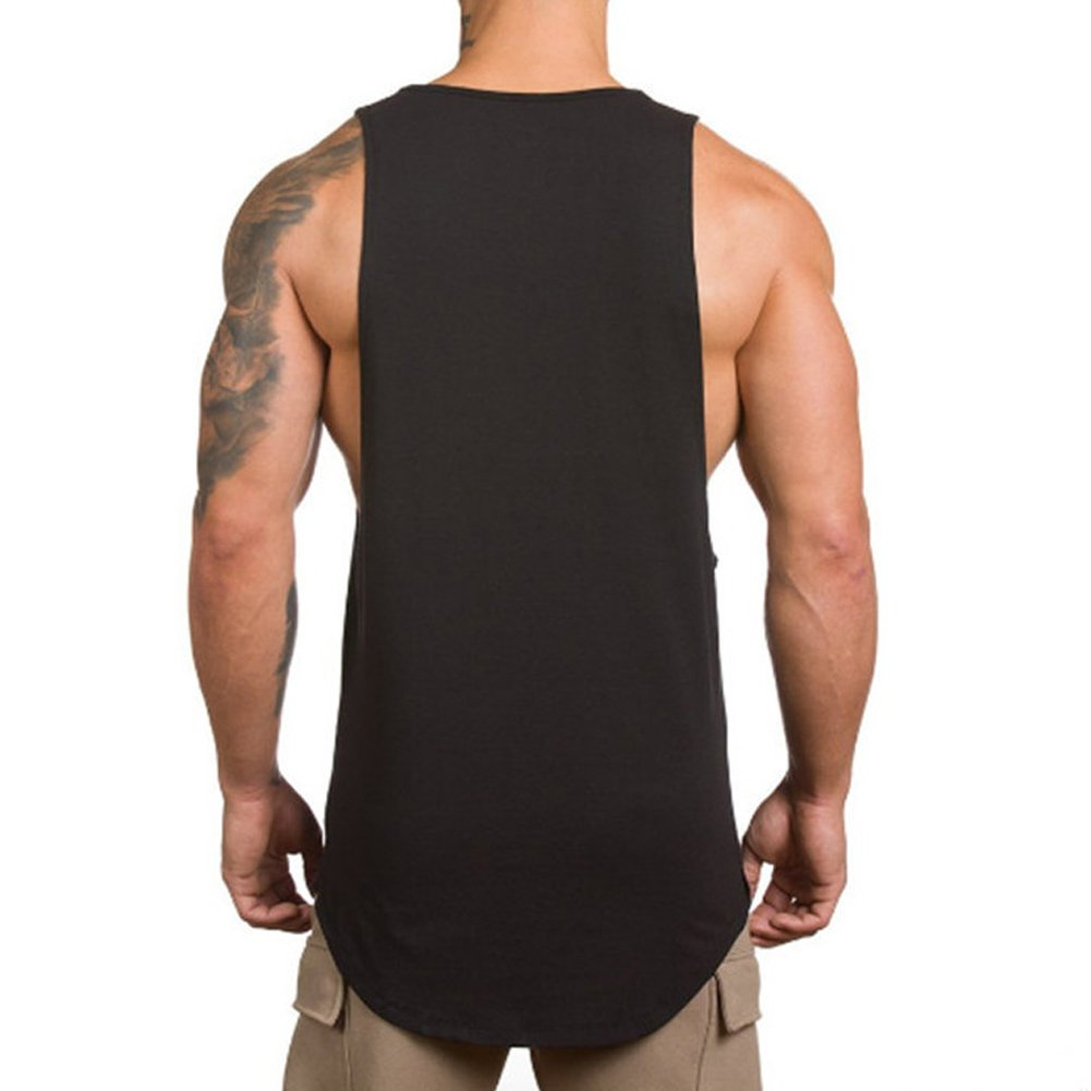 7b6d36c9c8330a Magiftbox Men s Muscle Gym Workout Stringer Tank Tops Bodybuilding Fitness T -Shirts  Amazon.ca  Clothing   Accessories